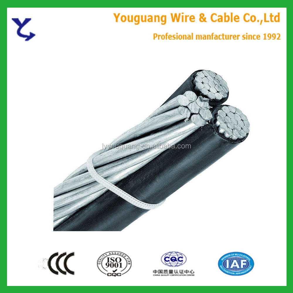 Made in YouGuang!Aluminum Conductor Overhead Cable Aerial Cable ABC Cable