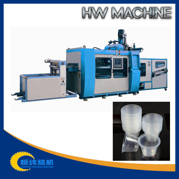 Full-automatic pet/pvc/hips cup making machine with CE certificate