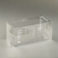 Small clear plastic packaging boxes