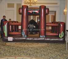 Spanish bullfighting China manufacturer mechanical rodeo bull price with inflatable mat for sale