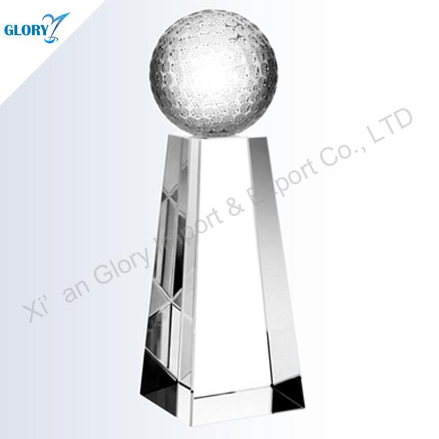 Hot Elegant Golf Crystal Funny Golf Trophies For Sale