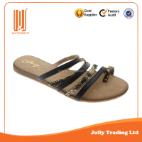 Soft and comfortable latest style simple flat sandal shoe vendors
