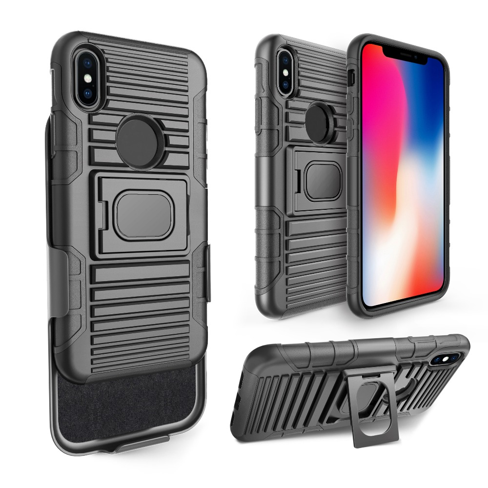 For apple iphone X case shockproof 3 in 1 hard pc plastic TPU shell mobile phone cases cover combo hybrid for iphone x 8 plus