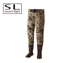 custom made neoprene camo fishing waist waders