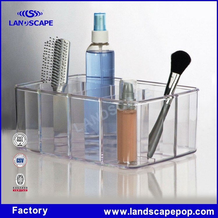 Acrylic material cosmetic hair brush holder