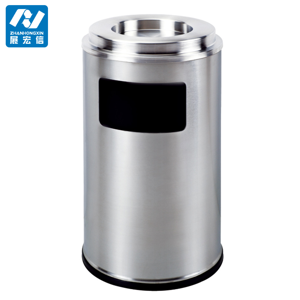 Outdoor stand publicity litter bin with ashtray