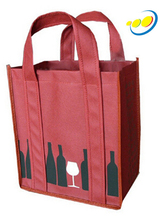 Non woven fabric wine or beer bottle tote bag wholesale
