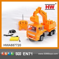 Hot Sale 4 Channel Remote Control Excavator Toy RC Truck