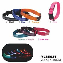 Manufacture supplier Led light dog collar in fashion style for warning to others