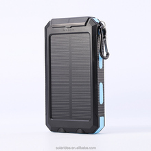 High capacity 12v off-grid panel waterproof double USB solar power bank for mobile phone