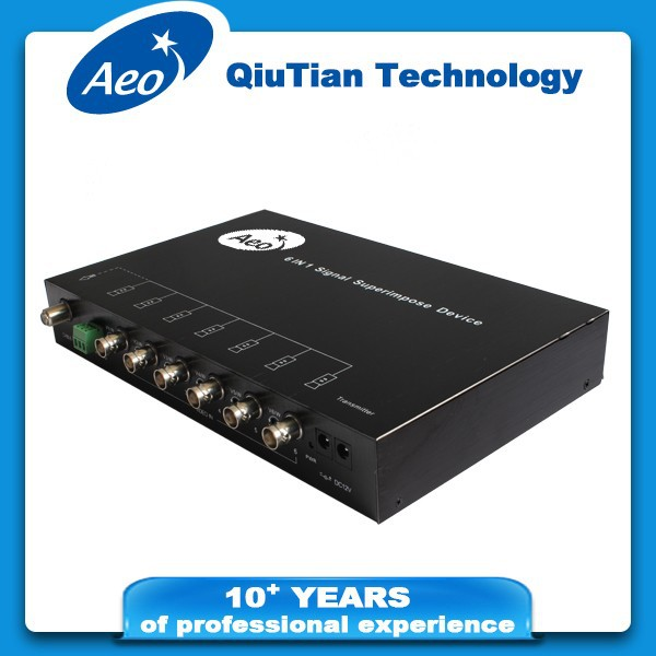 CCTV - 6CH signal multiplexer with RS485 (transmitter + receiver)