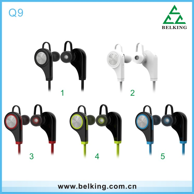 Hottest Selling Q9 Sports Bluetooth Earphones, Music Smart Headset, Stereo Waterproof Bluetooth Sport Wireless Headphone