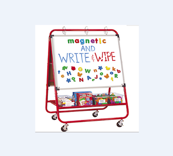 Metal material School teaching equipment multifunction mobile writing white board