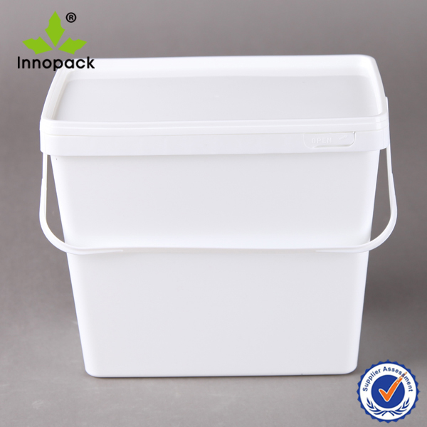 3.8L/4 Liter plastic rectangular bucket 1 gallon rectangular pail container for food
