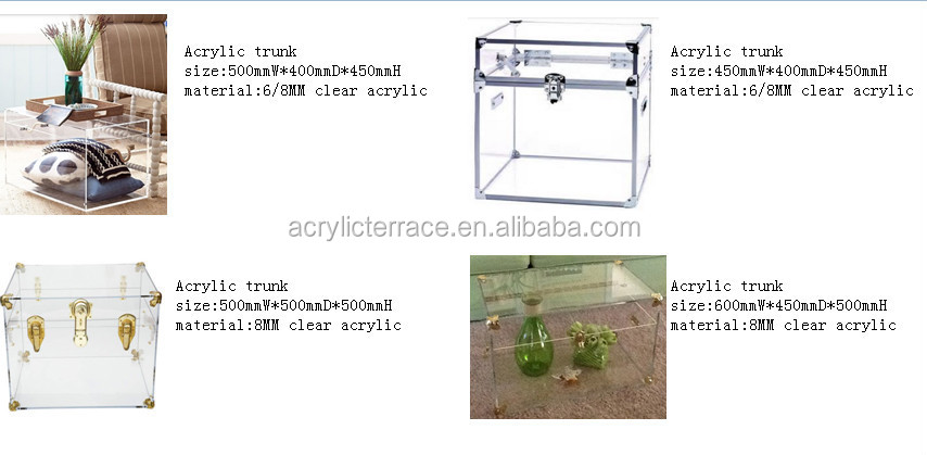 waterfall transparent perspex trunk with rope