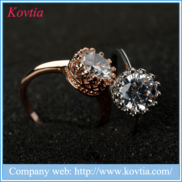 Exquisiteness ring jewelry carat gold imperial crown ring for wedding
