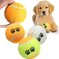 2015 New Top Selling Pet Cat Dog Play Training Tennis Ball Funny Chew Run Fetch Throw Beach Toys Pet Supplies