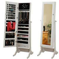 High Quality Furniture Mirrored Jewelry Cabinet
