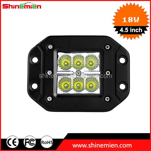 3x3 Dually Flush Mount C R E E LED Light Lamps Dually D2 Off Road 4X4 4WD Jeep Truck F150 Tacoma Bumper 3inch Spot 18W