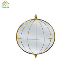 Modern Good Quality Nice Design Wall Hanging Metal Frame Home Decoration Mirror With diamond shape