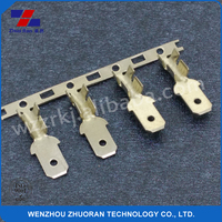 4.8*0.5mm appliance terminal connector brass female receptacle terminal