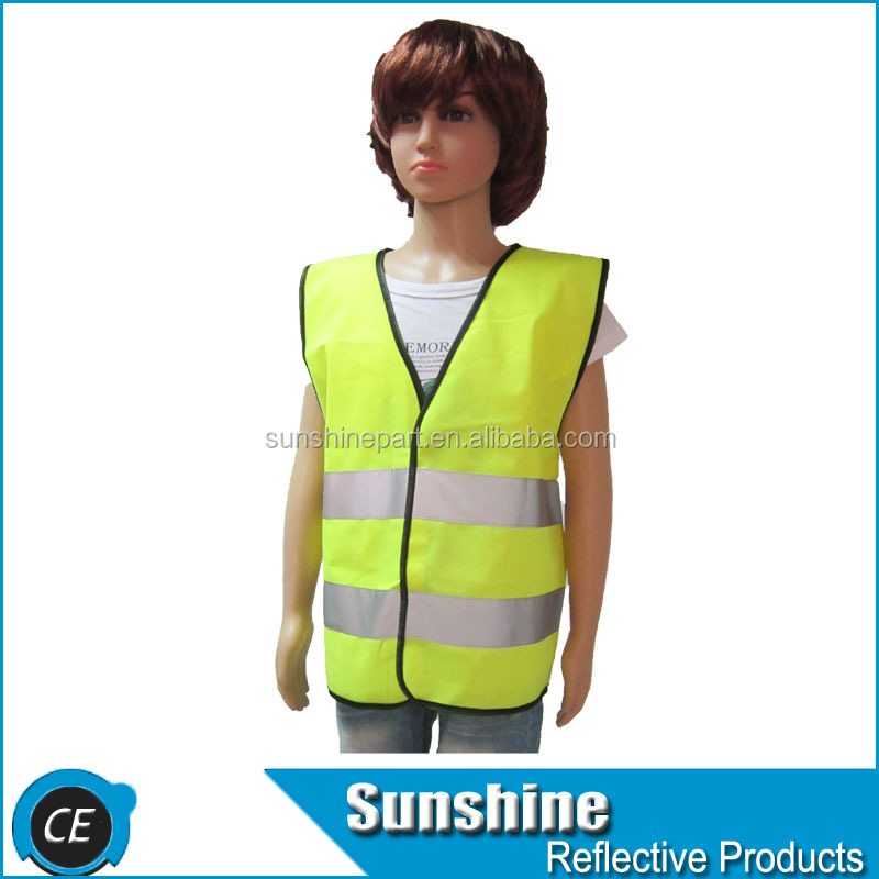 Yellow Hot Selling reflective hi vis vest for children