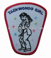 Girl Cub KARATE class visit Fun Patches Crests Badges SCOUTS GUIDE Iron On