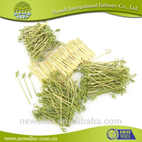 2014 Hot Selling bamboo wholesale snack picks diamond tweezers points' width 2.4mm/ with slide blocking