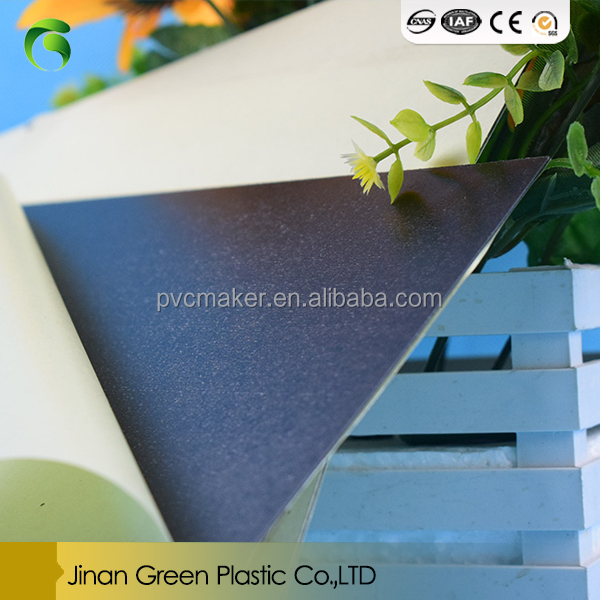 Green sale self adhesive pvc sheet for photo album