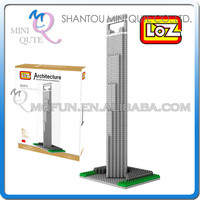 Mini Qute World architecture 3d puzzle Shanghai World Financial Center SWFC loz diamond building block educational toy NO.9372