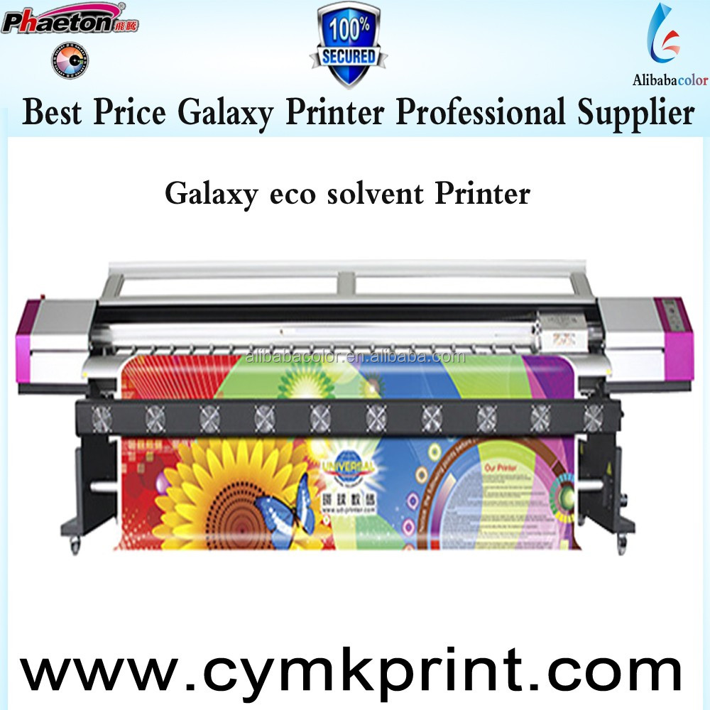 Top quality Galaxy dx5 head permanent ink printer For Eco Solvent ink