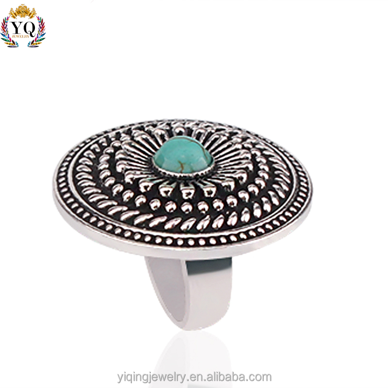 RYQ-00002 latest design round natural stone zinc alloy ladies finger ally express cheap wholesale ring