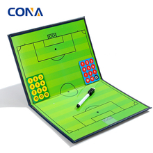 Football Soccer Magnetic Tactic Coach ClipBoard with Dry Erase and Marker Pen Coaching Strategy Board Kit Equipment