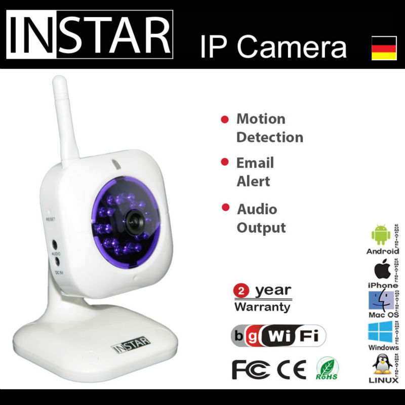 INSTAR IN-3001 IP Camera with integrated microphon
