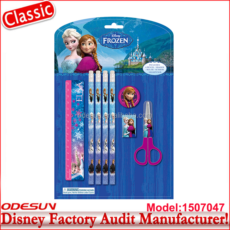 Disney Universal NBCU FAMA BSCI Carrefour GSV Factory Audit Frozen Kids Mini Stationery Gift Set