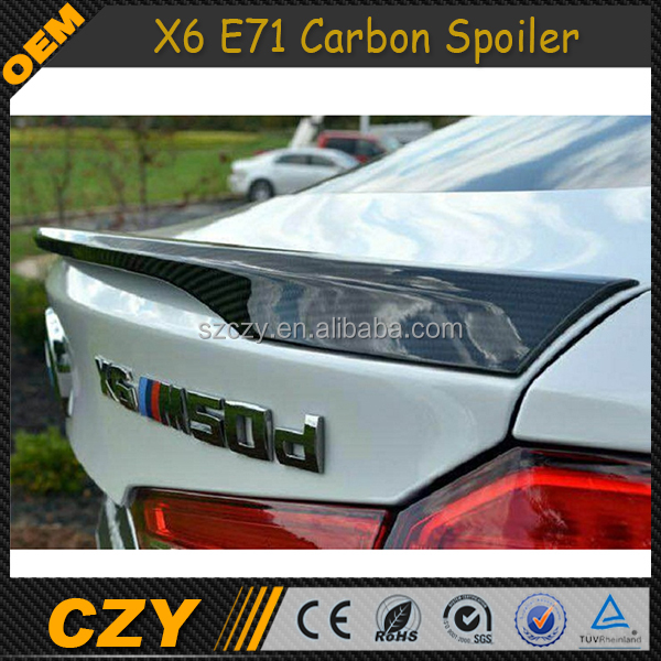 X6 F16 Car Parts Carbon Rear Trunk Spoiler for BMW X6 F16