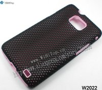 Pink Black Silicone Mesh Case for Samsung Galaxy S2 i9100.