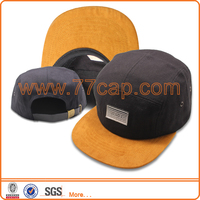 Custom Suede Snapback Hats Real Leather / Natural Leather / Artificial Leather Snapback Hats