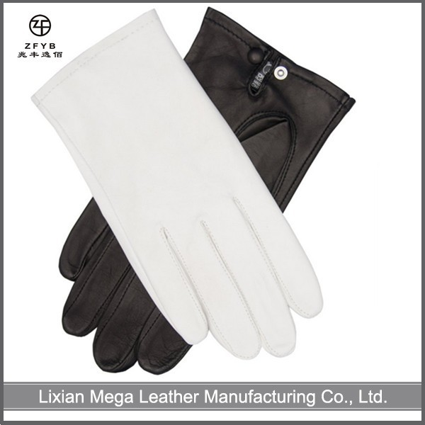 Wholesale Men's Italian Dress white color Leather Gloves