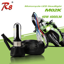 New design led motorcycle headlight bulbs M02K 4000LM 12V 40W with DRL/fog light white ice blue for bajaj pulsar 180 motorcycle