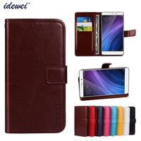 Luxury Flip PU Leather Wallet Mobile phone Cover Case For Xiaomi Redmi 4 Standard Edition with Card Holder