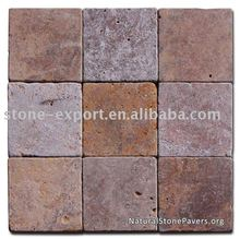 Arizona Red Tumbled Travertine Pavers iran red travertine