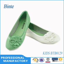 China cheap and beautiful white and green flat fashion casual dance shoes