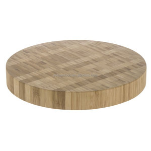 15 inch Bamboo wood round butcher block with feet