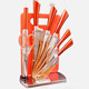 Professional Stainless Steel colorful 8pcs Kitchen Knife Set With Acrylic Stand