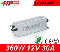 Factory outlet CE RoHS constant volatge single output AC to DC 30A 360W 12V fiber optic christmas tree power supply