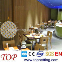 latest design metal mesh restaurant curtains