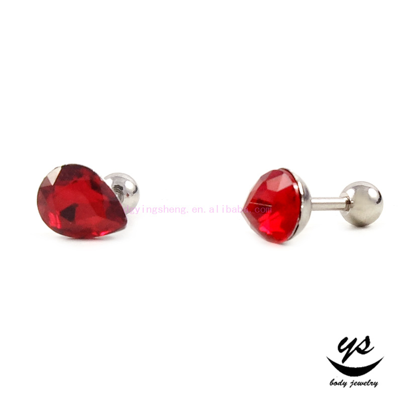 Ear Cartilage Stud Earrings Tragus Helix Piercing Jewelry fake tragus stud