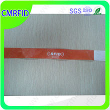 colorful paper 125khz rfid wristband one time in hospital