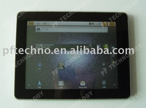 8 inch Android MID 2.2 Pad Freescale IMX515 Cortex-A8 512MB 4GB Flash Tablet PC